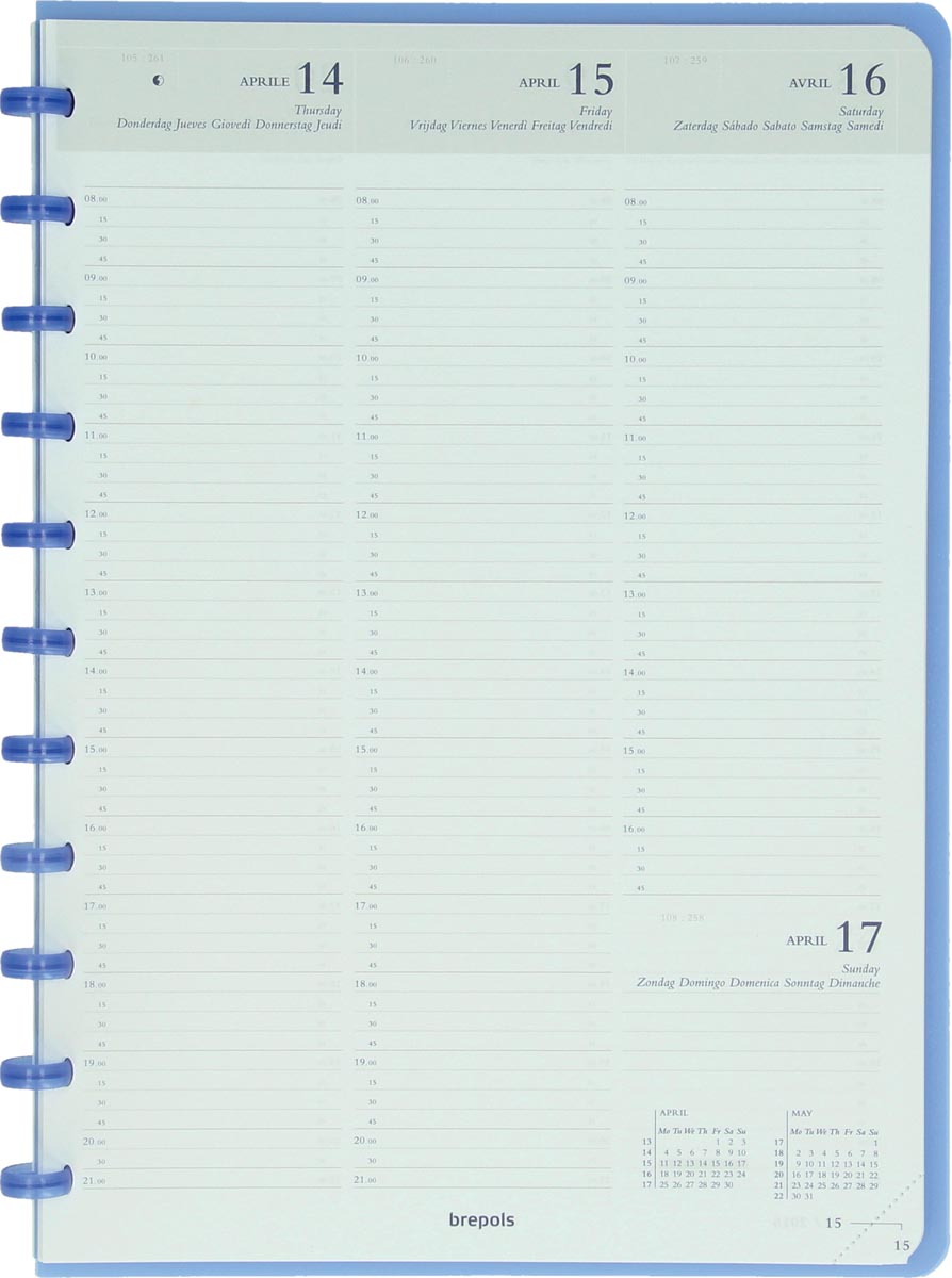 Atoma agenda ft A4, wit papier, 128 pagina's 2021