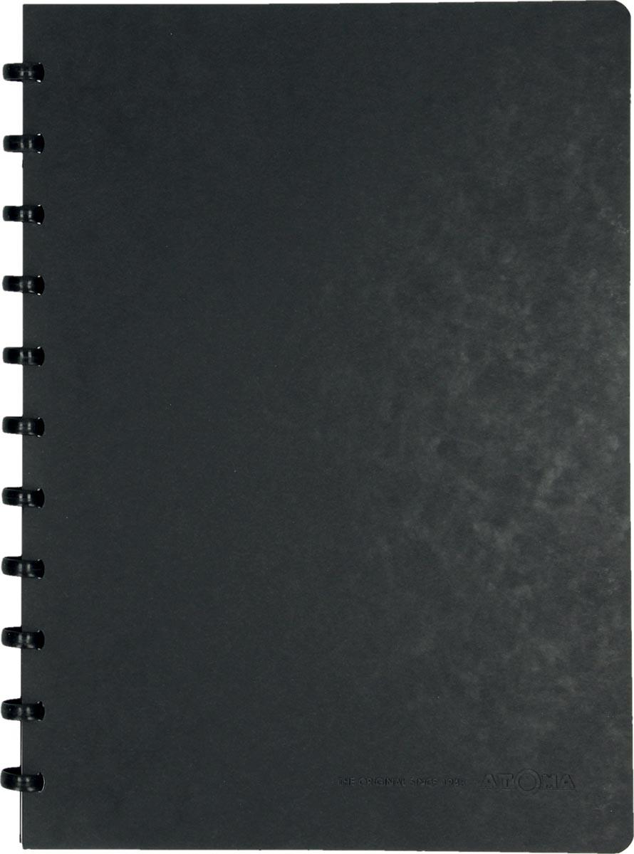 Atoma meetingbook, ft A4, zwart, gelijnd