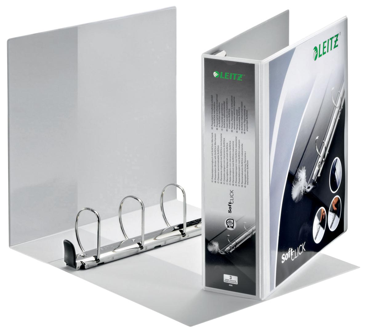 Leitz SoftClick, ft A4 Maxi 4 D-ringen 60 mm, wit
