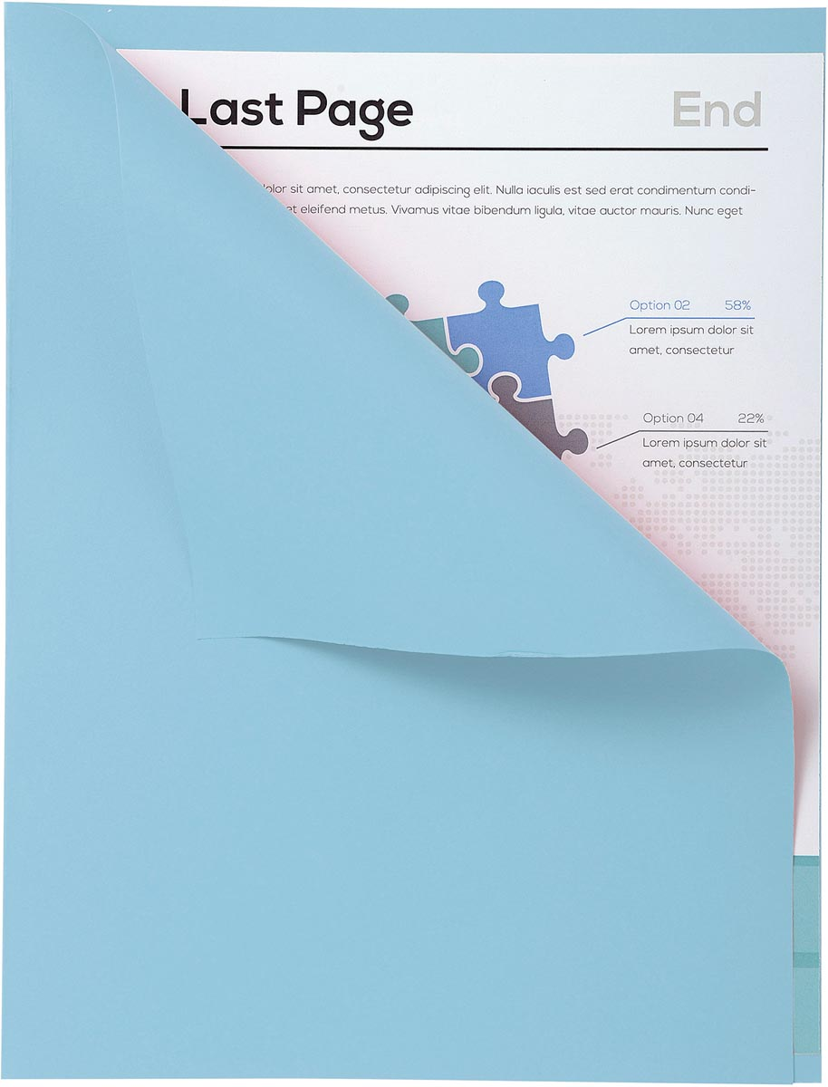 Exacompta dossiermap Forever met zichtrand, ft A4, pak van 100, blauw