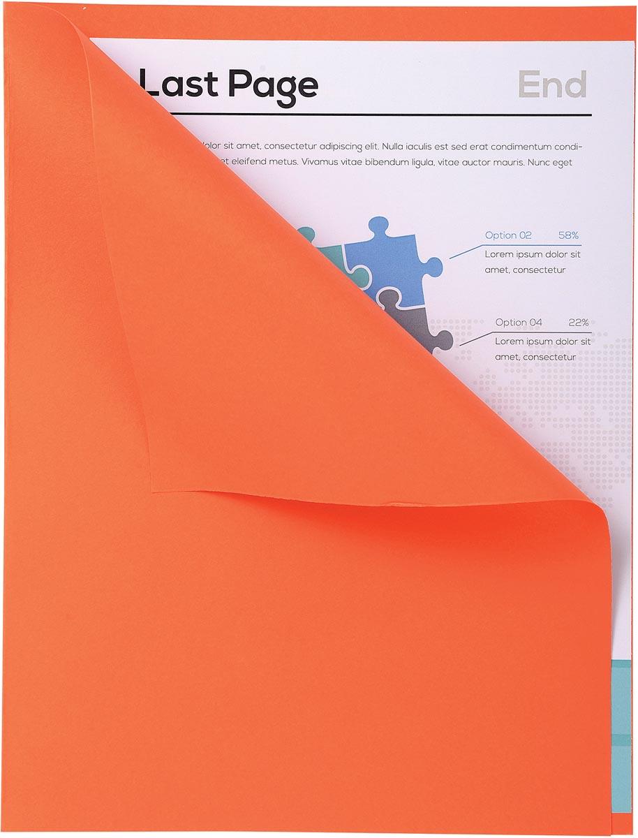 Exacompta dossiermap Forever met zichtrand, ft A4, pak van 100, oranje