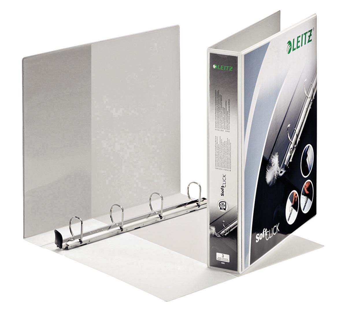 Leitz SoftClick, ft A4 Maxi, 4D-ringen 30mm, wit