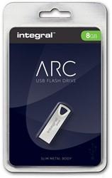 Integral ARC USB stick 2.0, 8 GB, zilver