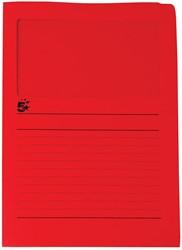 5 Star L-map met venster, rood, pak van 50