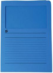 5 Star L-map met venster, donkerblauw, pak van 50