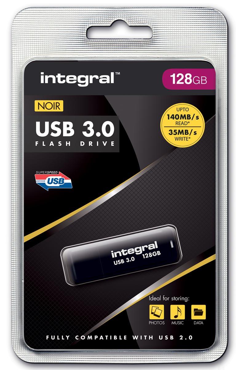 Integral USB stick 3.0, 128 GB, zwart