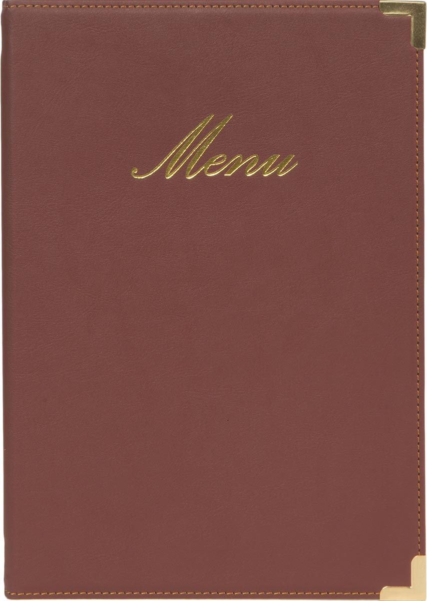 Securit menukaart Classic, ft A5, bordeaux