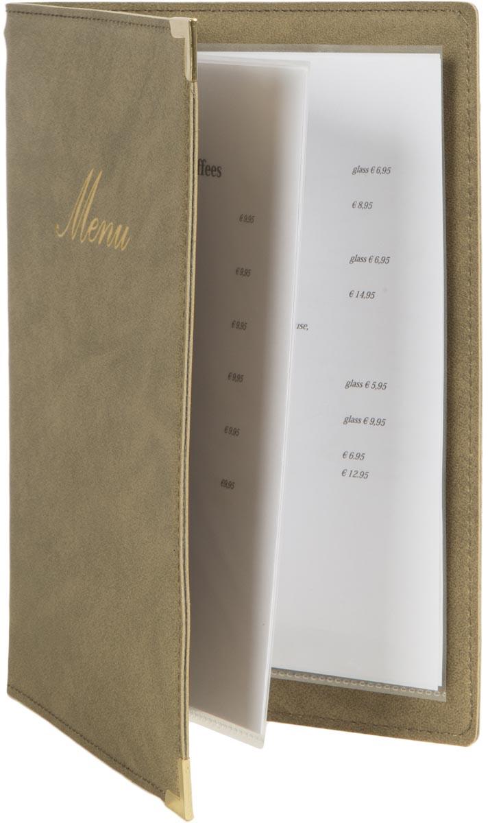 Securit menukaart Classic, ft A5, beige