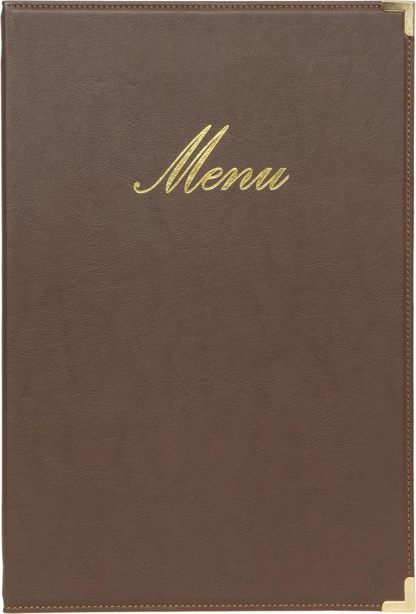 Securit menukaart Classic, ft A4, bruin