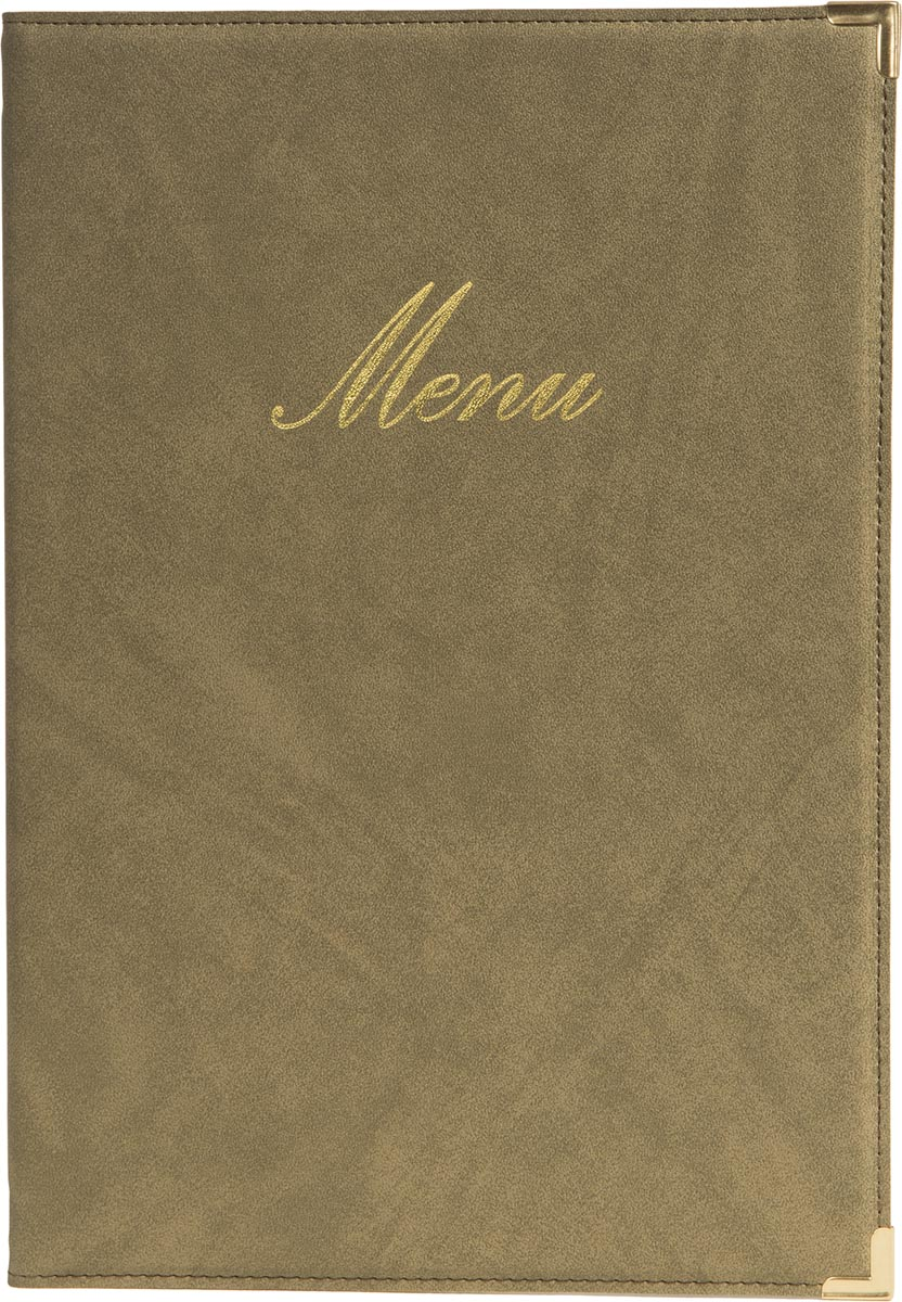 Securit menukaart Classic, ft A4, beige
