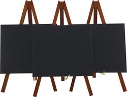 Securit tafelkrijtbord Mini, ft 24 x 15 cm, mahonie, pak van 3