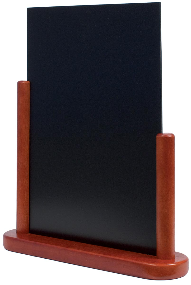 Securit tafelkrijtbord Elegant ft A4, mahonie