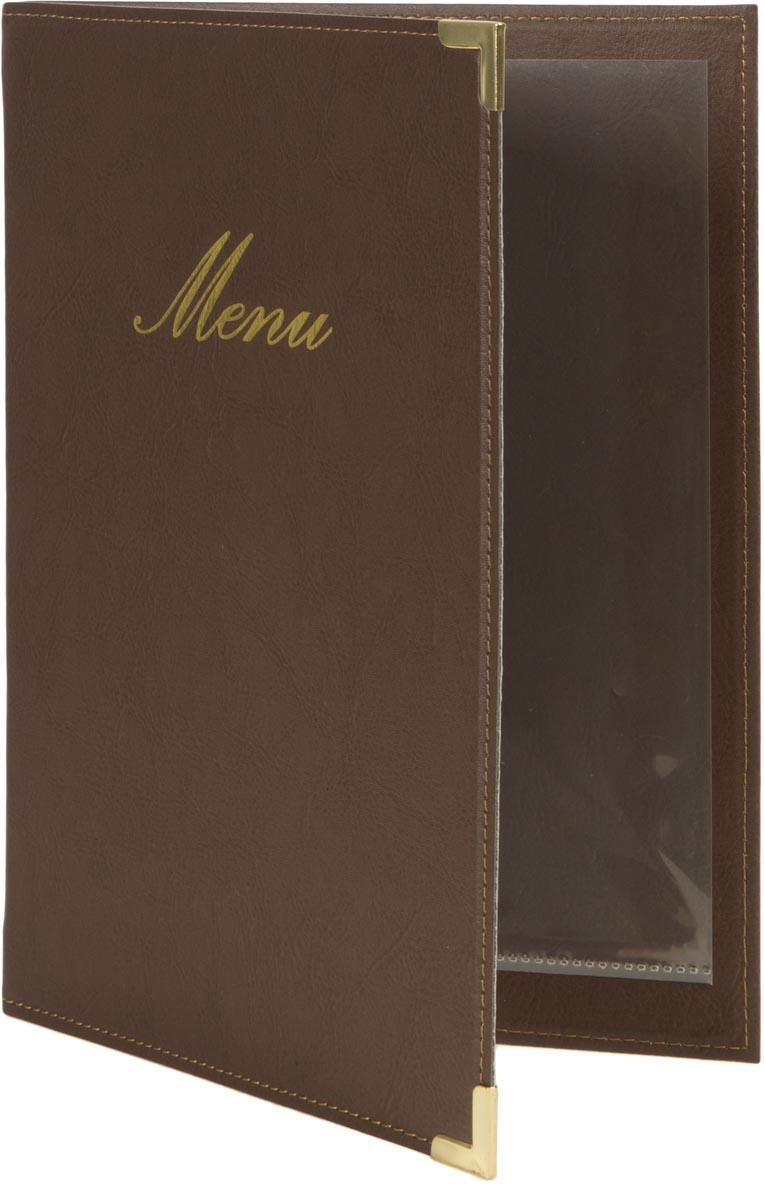 Securit menukaart Classic, ft A5, bruin