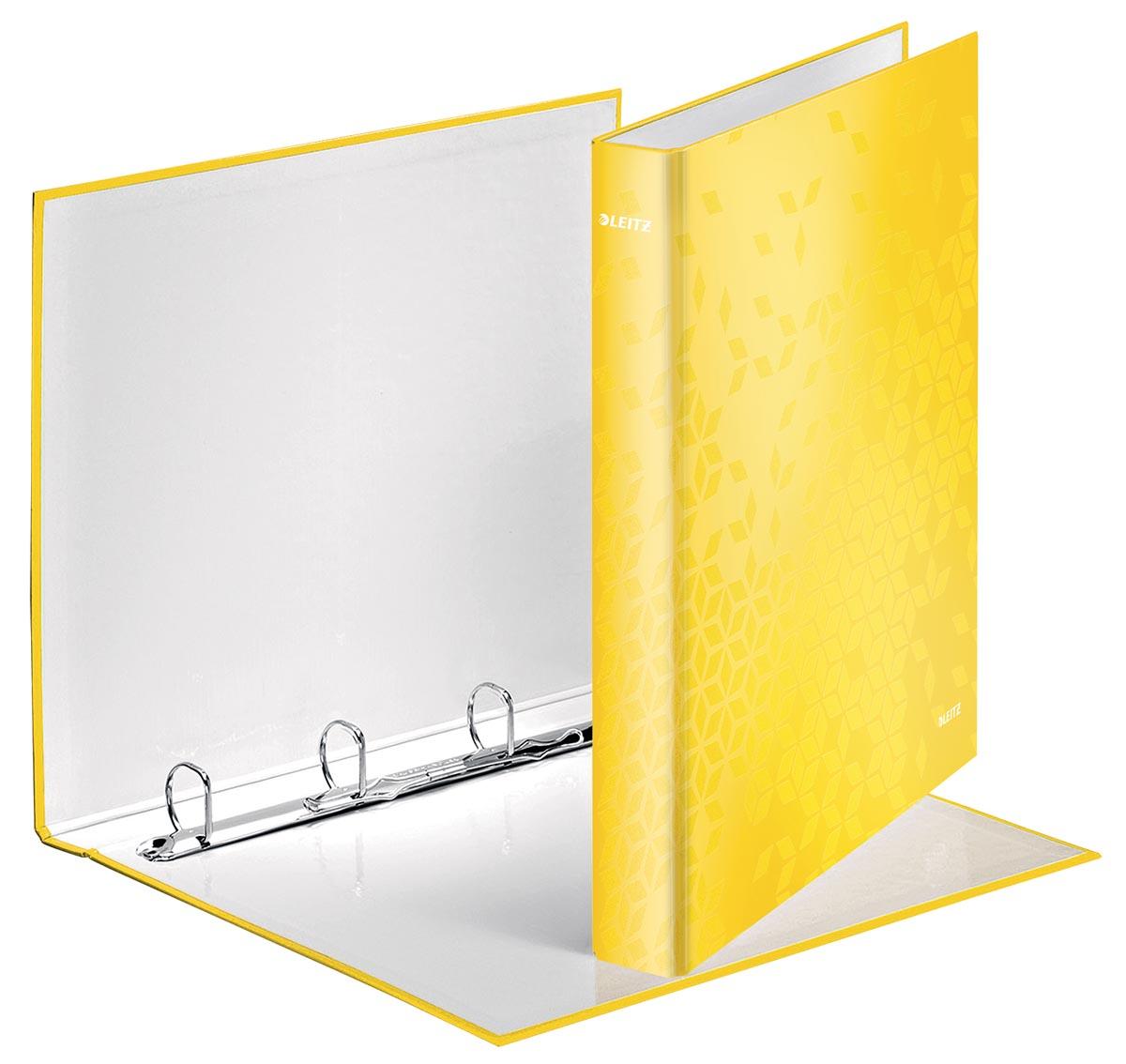 Leitz WOW ringmap 4 ringen, geel