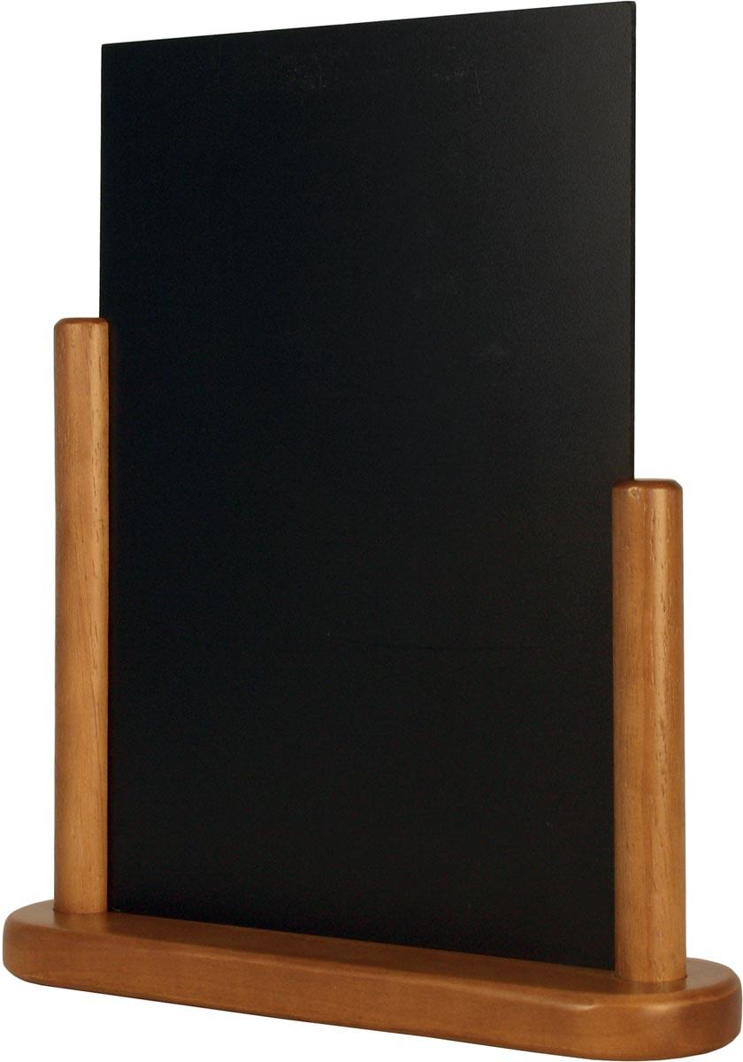 Securit tafelkrijtbord Elegant ft A4, teak
