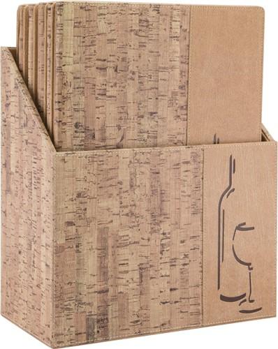 Securit wijnkaart Design, ft A4, Cork, doos met 10 stuks-2
