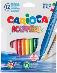 Carioca penseelstift Aquarel, ophangdoosje met 12 stuks