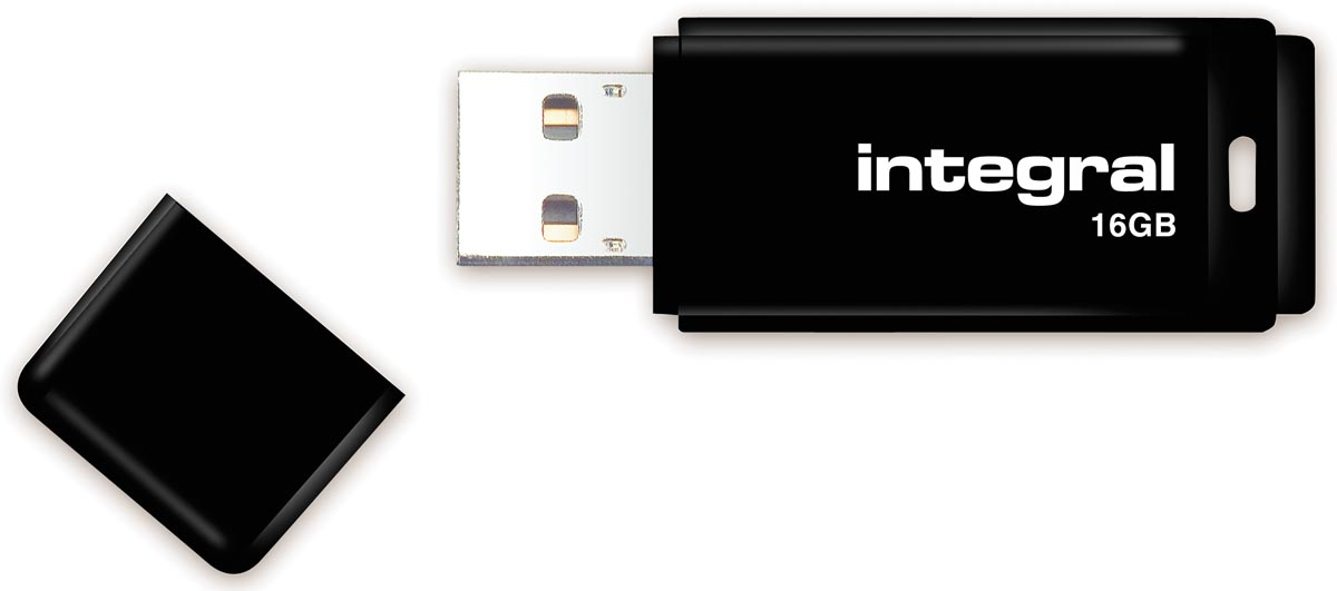 Integral USB 2.0 stick, 16 GB, zwart