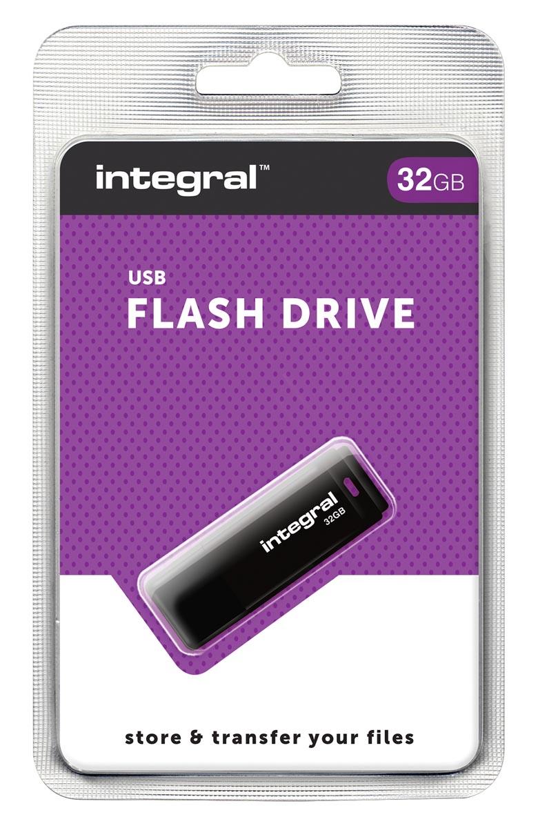 Integral USB 2.0 stick, 32 GB, zwart