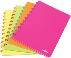 Atoma schrift fluo, ft A5, commercieel geruit, geassorteerde kleuren