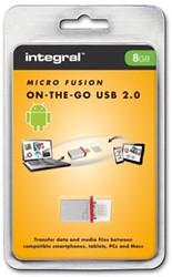 Integral Micro USB 2.0, 2 in 1 (OTG), 8 GB