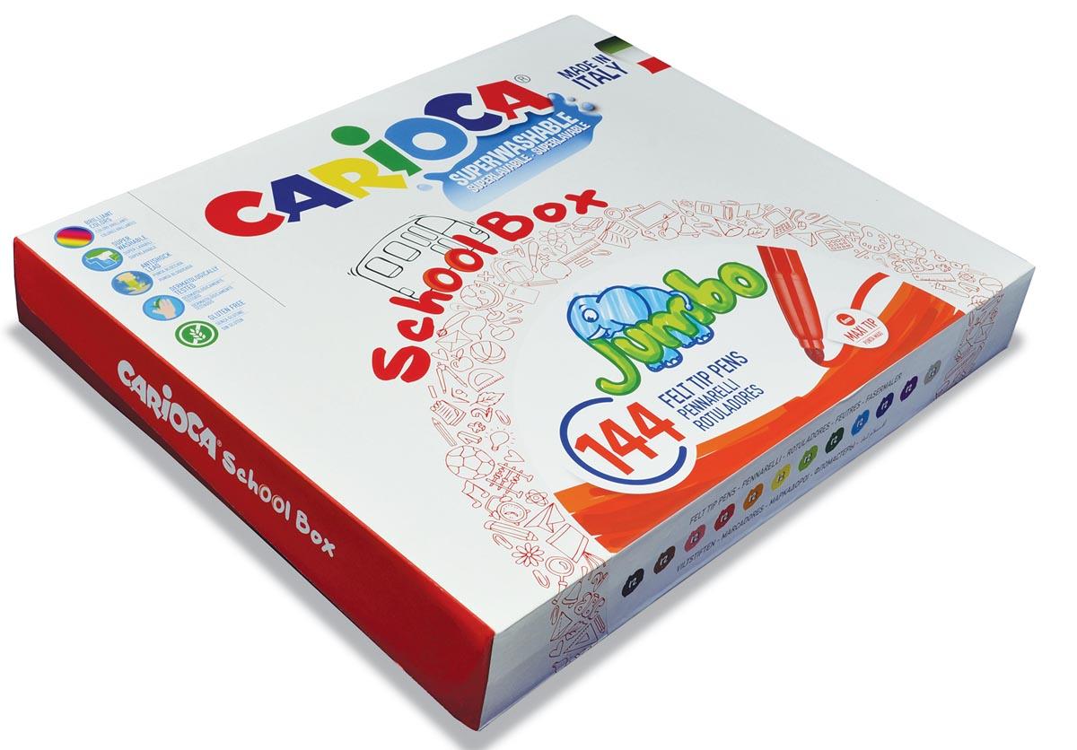 Carioca viltstiften Jumbo, doos met 144 stiften (classpack)