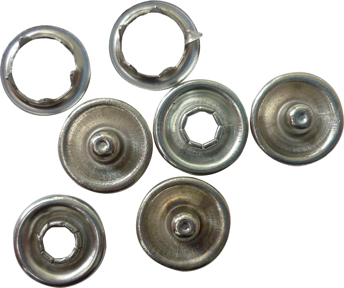 Graine Cr�ative metalen drukknopjes, doos met 50 stuks