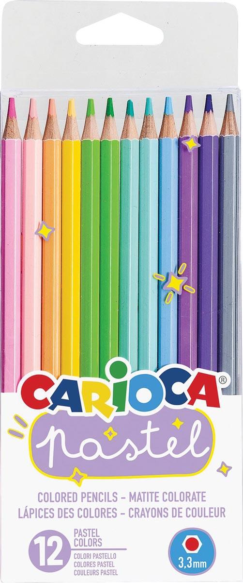 Carioca kleurpotloden Pastel, 12 stuks in een kartonnen etui