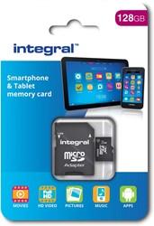 Integral microSDXC geheugenkaart, klasse 10, 128 GB