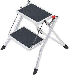 Hailo trapladder Mini, 2 treden, wit