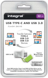 Integral Fusion USB 3.0 stick OTG, 32 GB, zilver