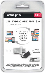 Integral Fusion USB 3.0 stick, 64 GB, zilver