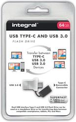 Integral Fusion USB 3.0 stick OTG, 64 GB, zilver