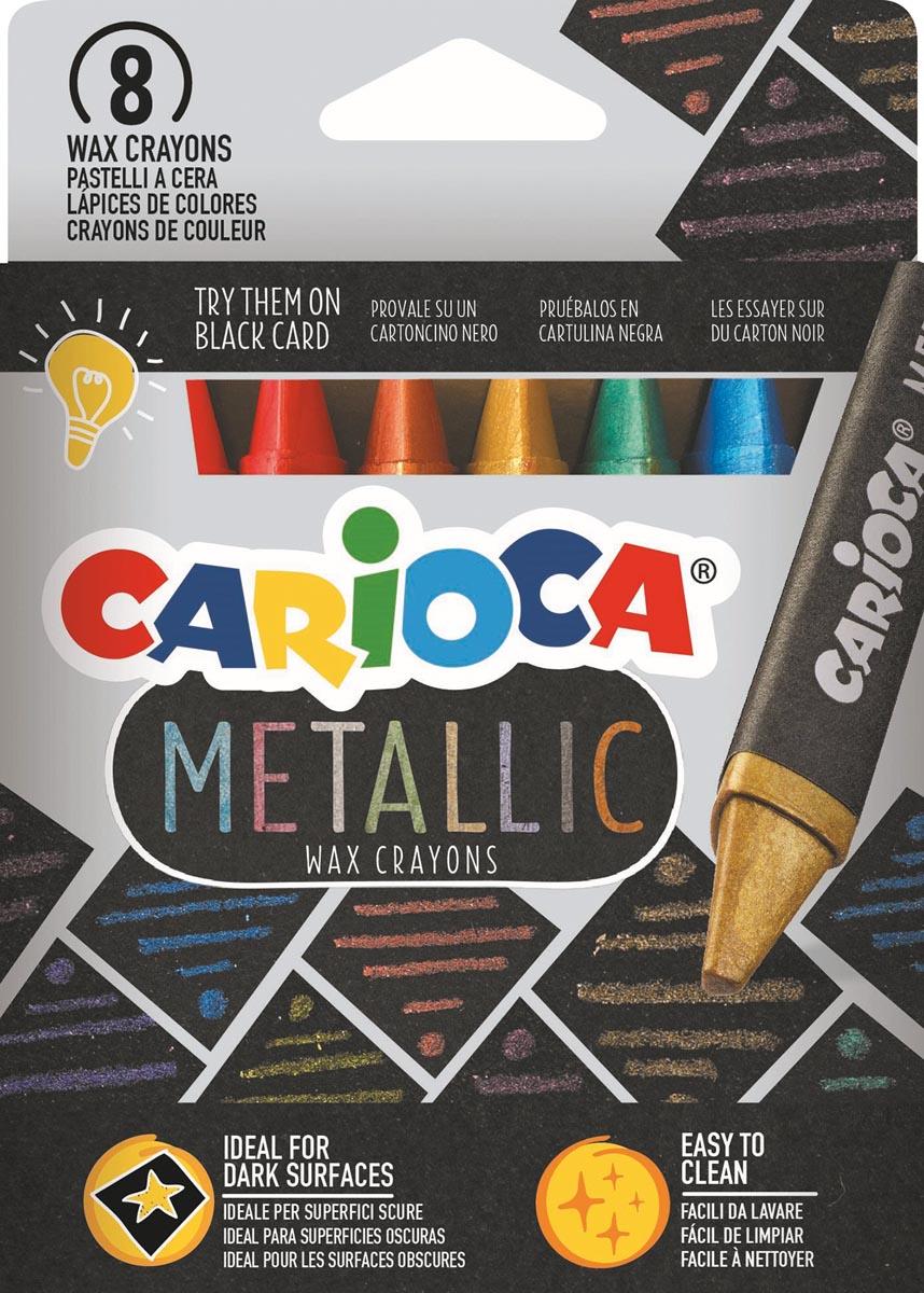 Carioca waskrijt Wax Metallic, kartonnen etui van 8 stuks