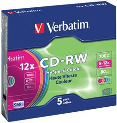 Verbatim CD rewritable Extra Protection, doos van 5 stuks, individueel verpakt (Jewel Case)