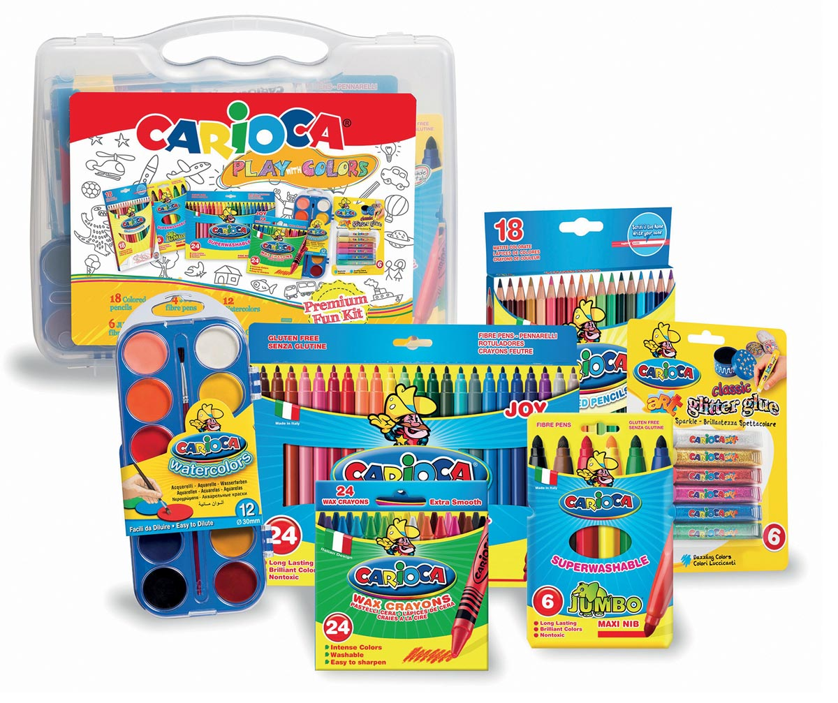 Carioca kleurkoffer Play With Colors, 90 stuks