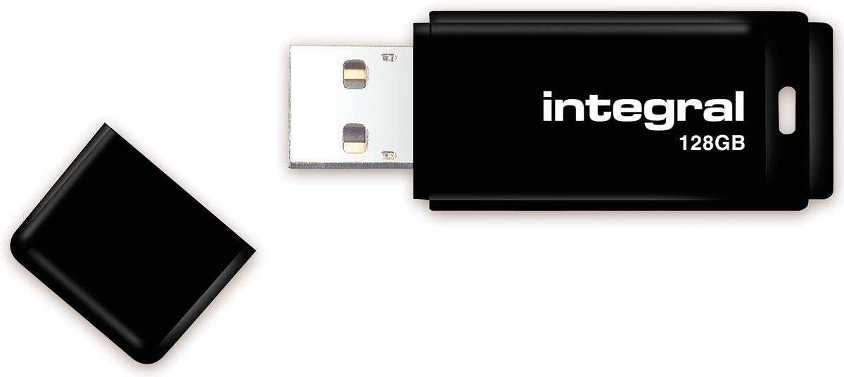 Integral USB 2.0 stick, 128 GB, zwart