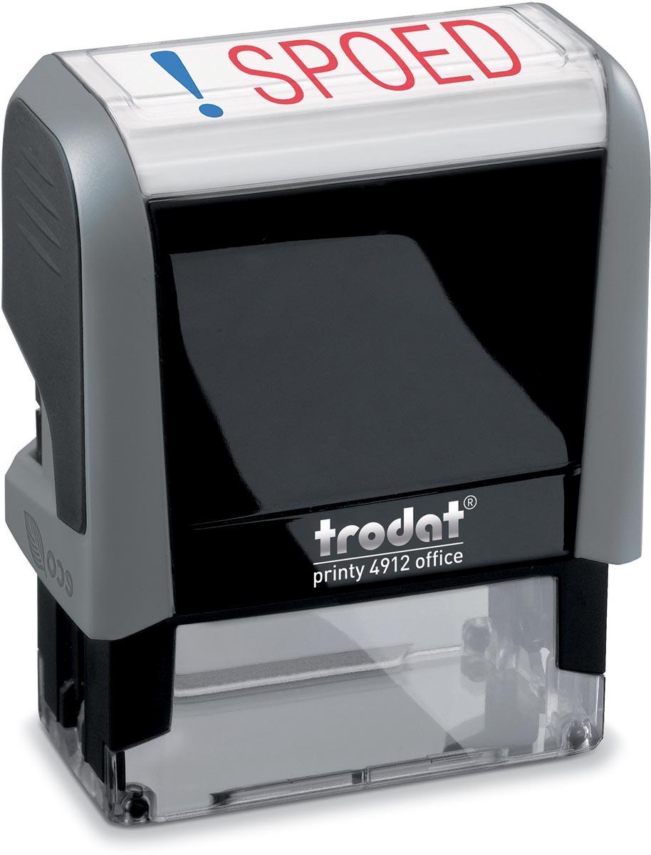 Trodat tekststempel Printy 4912 4.0 SPOED, inclusief stempelkussen
