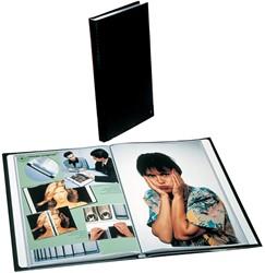 Rillstab showalbum A4 160 tassen, zwart
