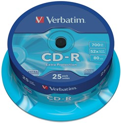 Verbatim CD recordable Extra Protection, spindel van 25 stuks