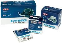 Dymo D1 tape 6 mm, zwart op transparant-2