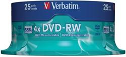 Verbatim DVD rewritable DVD-RW, spindel van 25 stuks