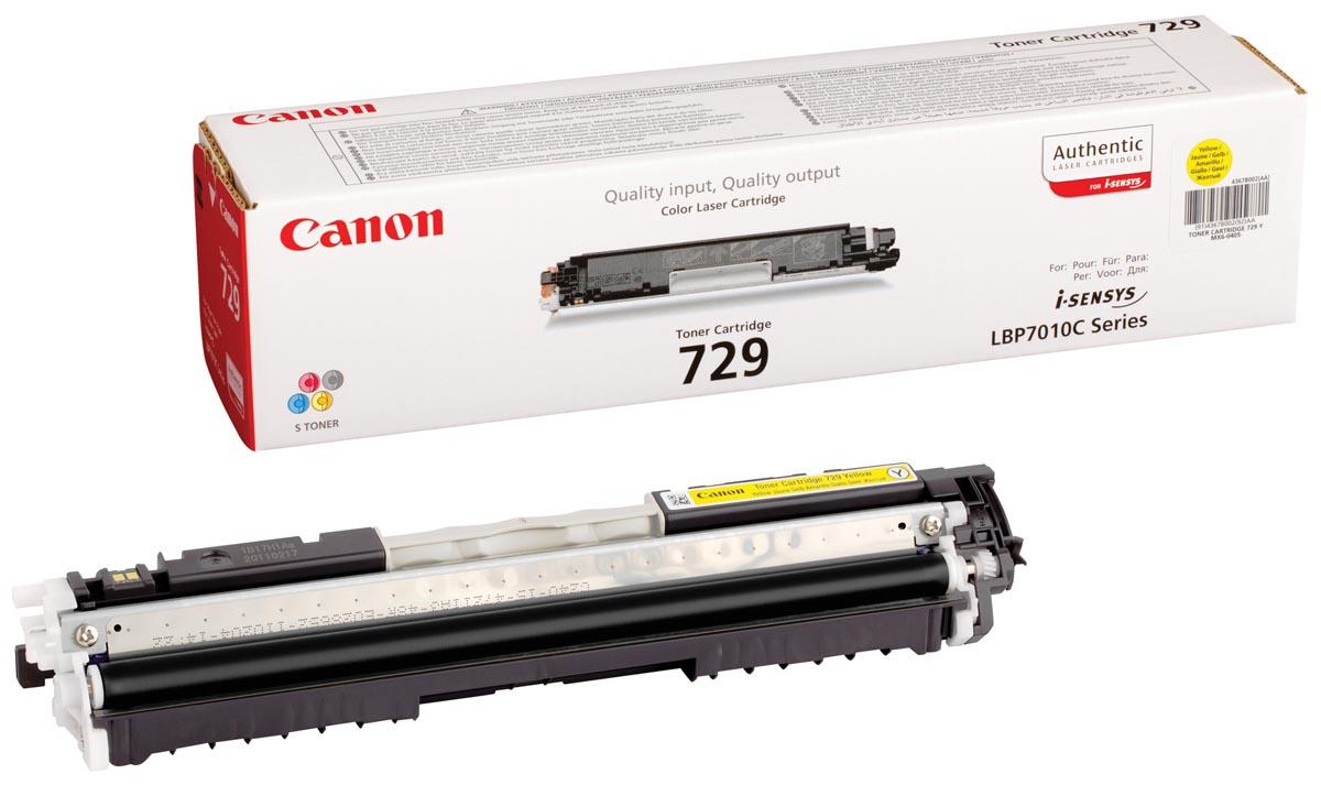 Canon toner 729Y, 1.000 pagina's, OEM 4367B002, geel
