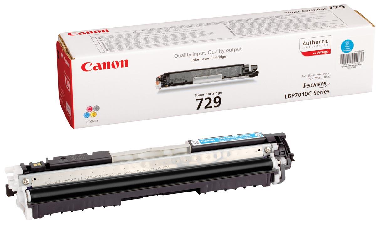 Canon toner 729C, 1.000 pagina's, OEM 4369B002, cyaan
