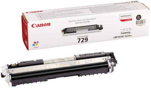 Canon toner 729BK, 1.200 pagina's, OEM 4370B002, zwart