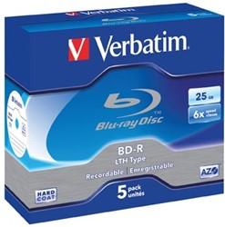 Verbatim BD recordable BD-R, doos van 5 stuks, individueel verpakt (Jewel Case)
