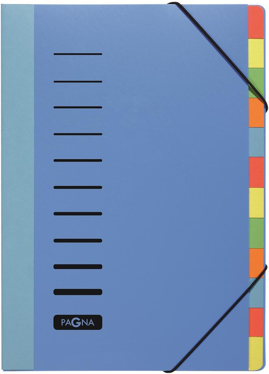 Pagna sorteermap Trend voor ft A4, 12 vakken, blauw