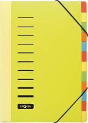 Pagna sorteermap Trend voor ft A4, 12 vakken, geel