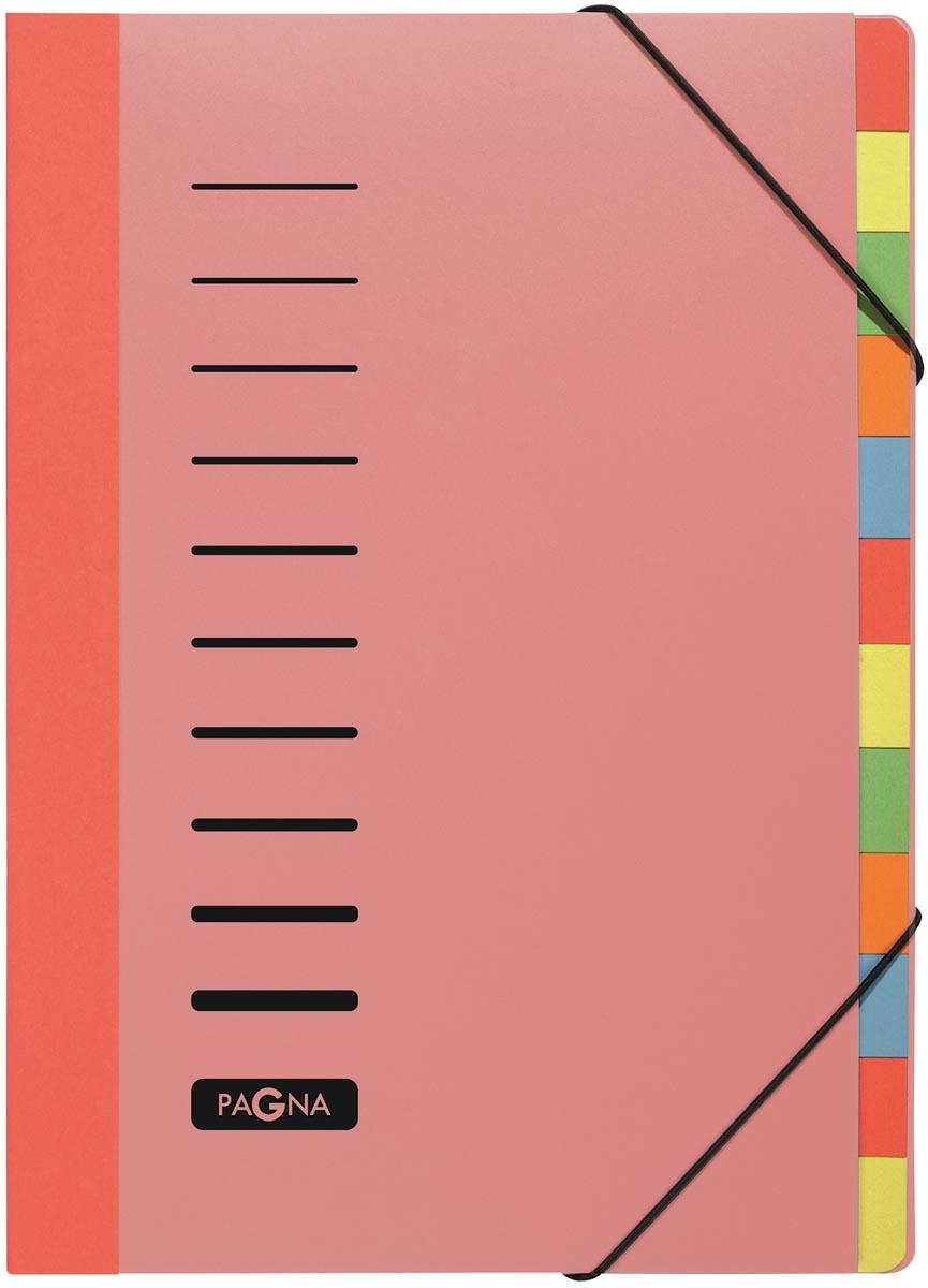 Pagna sorteermap Trend voor ft A4, 12 vakken, rood