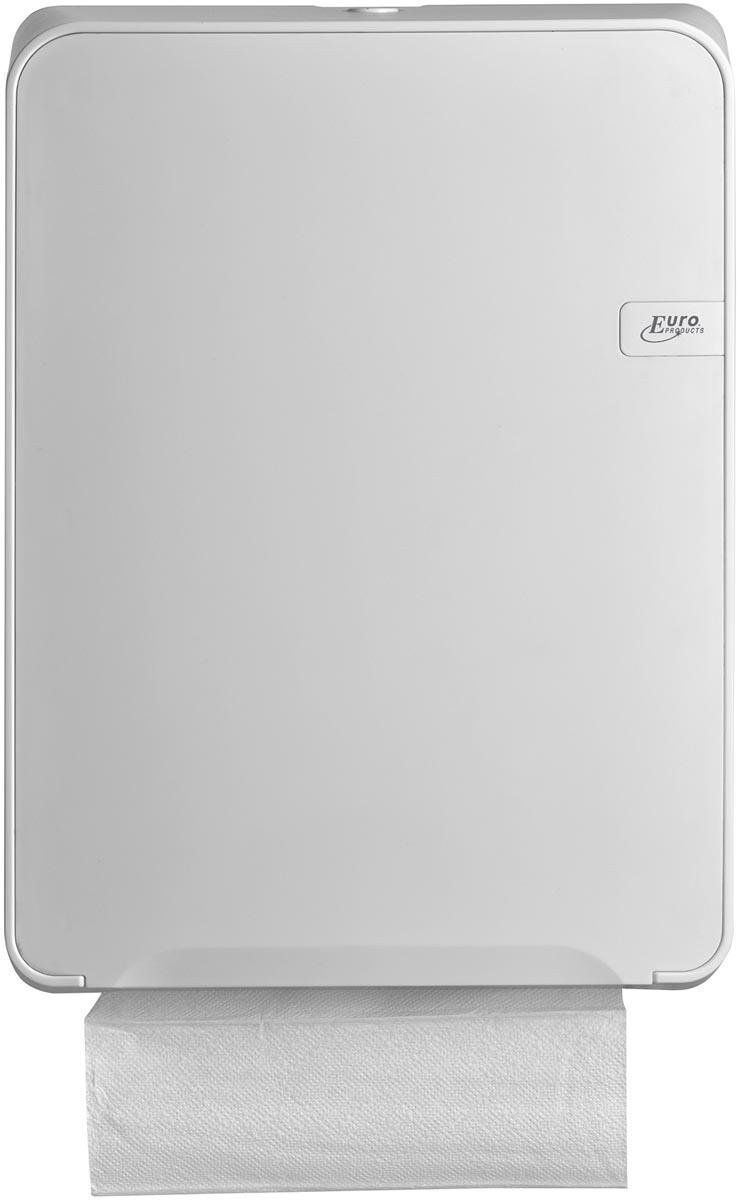 Euro Quartz dispenser voor C-fold en multifold vouwhanddoeken, wit